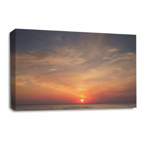 Sunset Seascape Wall Art Picture Orange Gold Summer Print